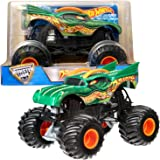 Hot Wheels Year 2016 Monster Jam 1:24 Scale Die Cast Metal Body Official Monster Truck - DRAGON (CGD65) with Monster Tires, Working Suspension and 4 Wheel Steering