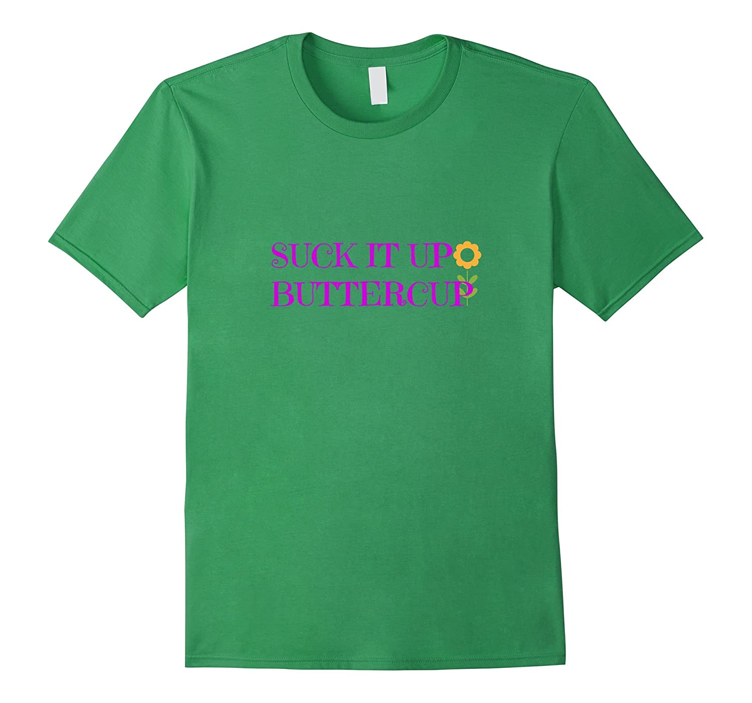 Suck it up Buttercup Pink Fitness Inspirational Quote Shirt-RT