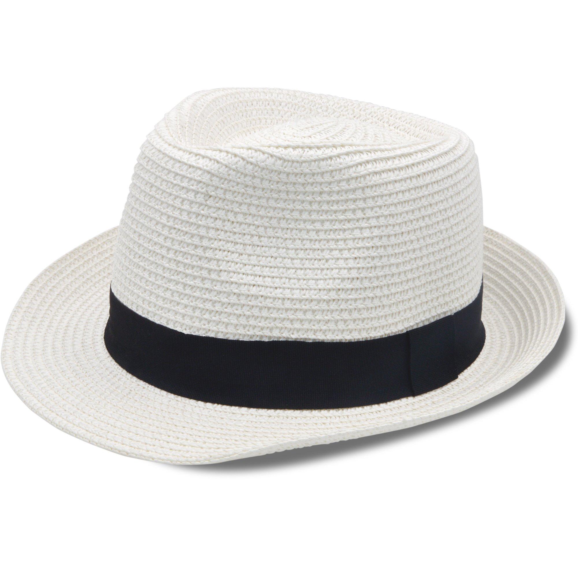 Stynice Panama Hat Foldable Fedora Hats for Women & Men Short Brim Straw Hats Beach Sun Hat for Summer Vacation Jazz 55-58cm