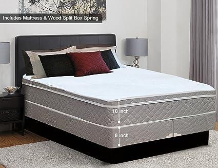 Amazoncom Spinal Solution 10 Inch Plush Medium Eurotop Pillowtop