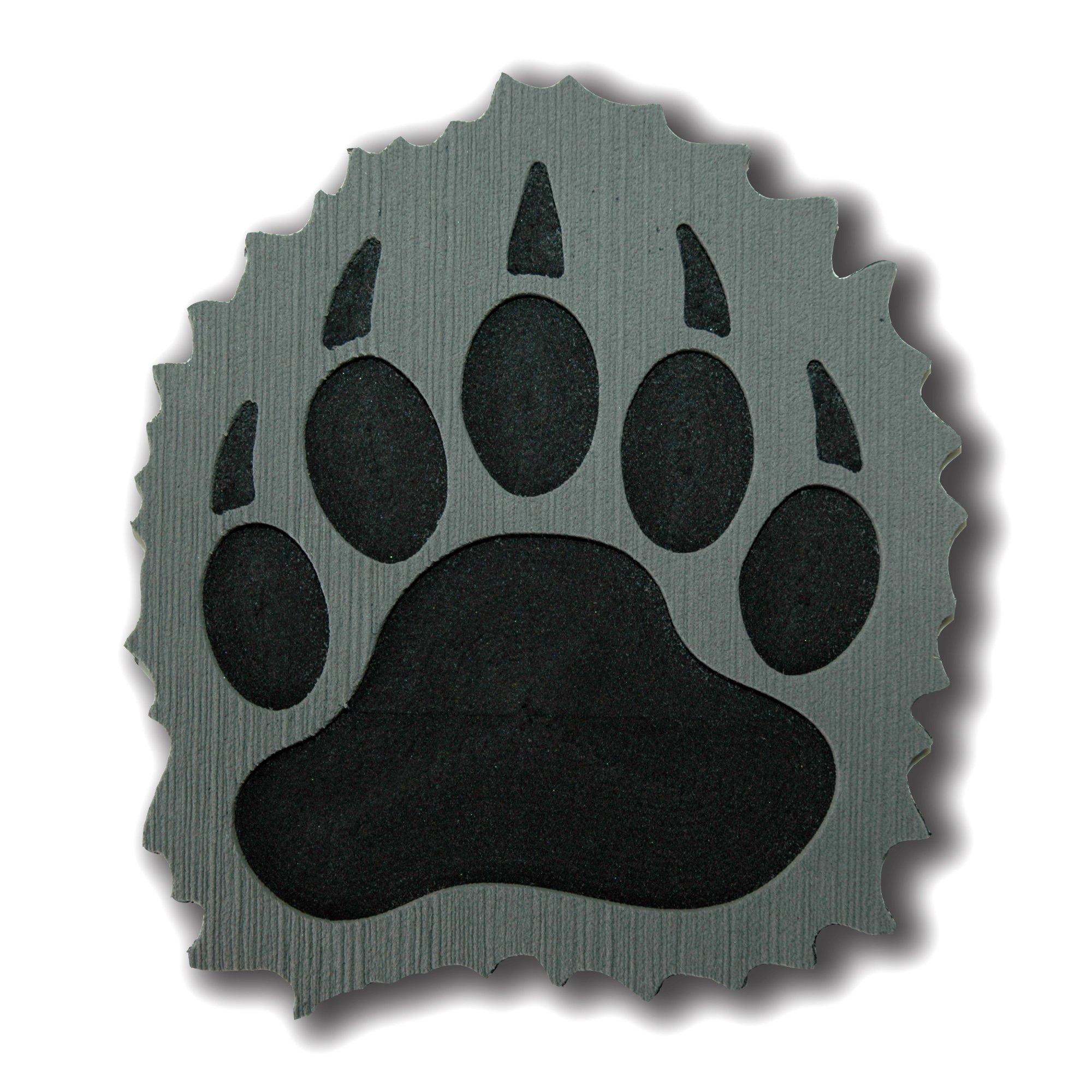 ToeJamR Stomp Pad - Furry Black Bear Paw - Gray by Toejamr