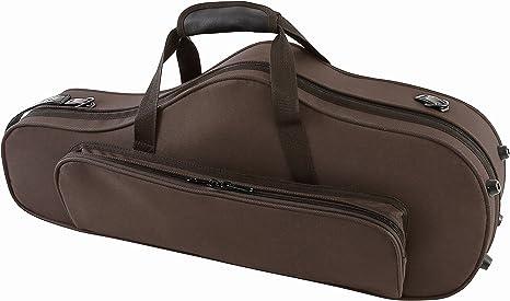 GEWA 708351 - Estuche con forma para saxo alto, serie Compact, ligero, exterior color marrón: Amazon.es: Instrumentos musicales