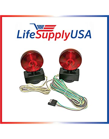 lifesupplyusa easy install 12 volt magnetic towing trailer light tail lights