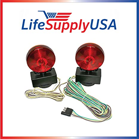 Amazon.com: Easy Install Magnetic Towing Trailer Light Tail Lights ...