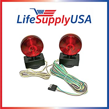 Amazoncom Easy Install Magnetic Towing Trailer Light Tail Lights