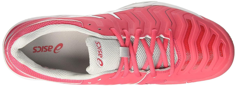 ASICS Damen Gel-Challenger 11 Tennisschuhe Mehrfarbig (Rouge Red/White/Glacier Grey)