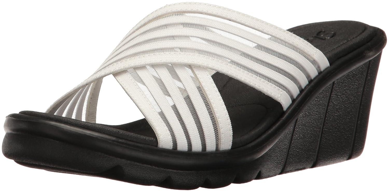 - Skechers Cali Wohommes Promenade Easy Go Wedge Sandal, blanc, 9 M US