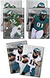 Oakley Graphics 3 Posters NFL Philadelphia Eagles - Carson Wentz, Reggie White, Fletcher Cox Art Prints - Buy 1 Get 2 Free, 3 Total Prints