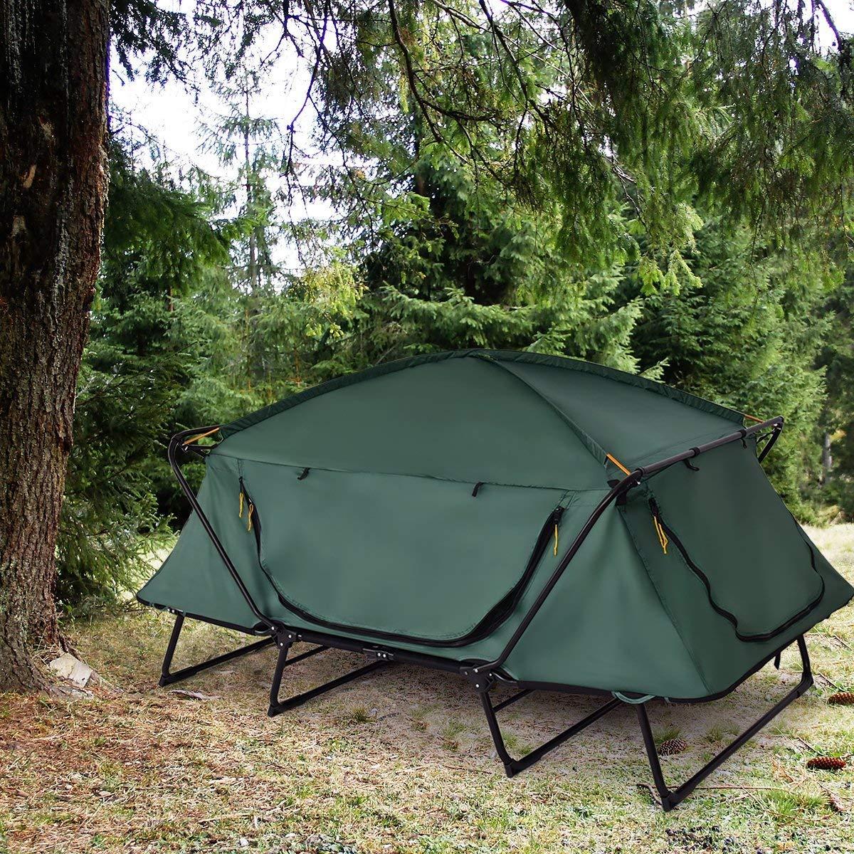 Tangkula Tent Cot Folding Waterproof 2 Person Hiking ...