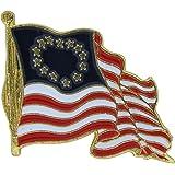 US Flag Store Waving Betsy Ross Flag Lapel Pin