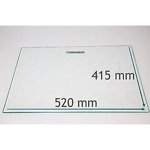 für Exquisit//PKM Kühlschrank TOP. Glasplatte,Einlegeboden,Glasboden 46x30 cm