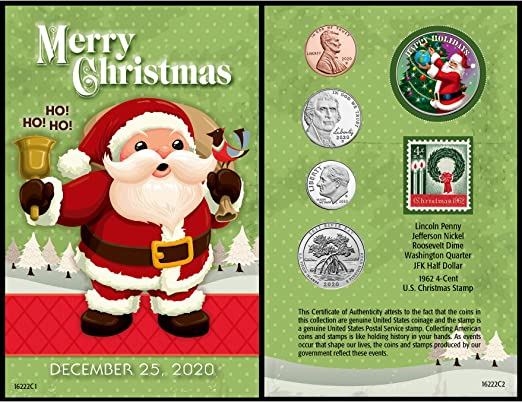2020 Christmas Stamp Us Amazon.com: American Coin Treasures Santa Coin Year to Remember