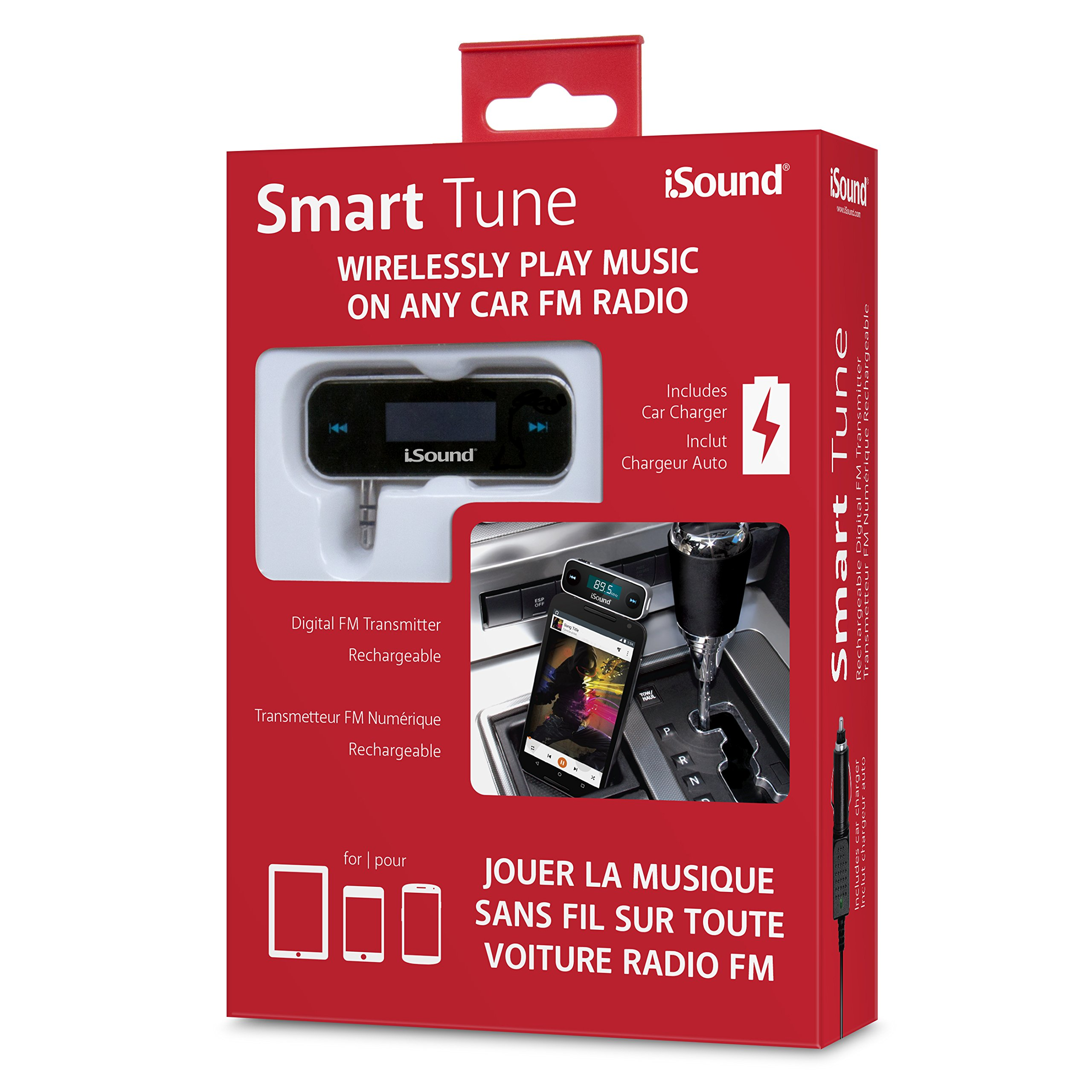 iSound Smart Tune 2 in 1 - Wireless FM Transmitter with Rechargeable Battery & included Car Charger by iSound (Image #5)