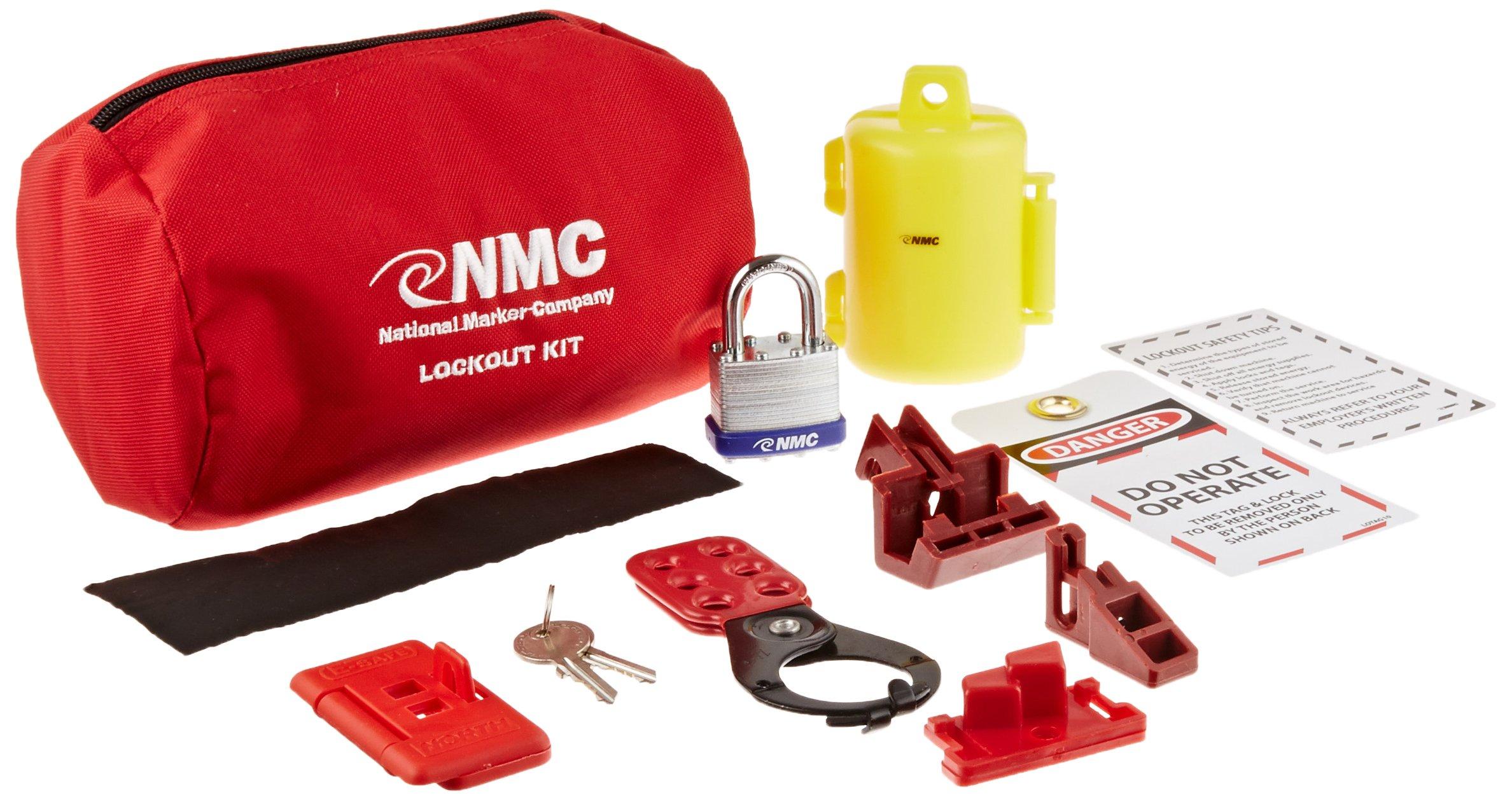 NMC BLOK3 18 Piece Electrical Lockout Pouch Kit by NMC