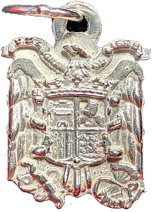 Double Eight Colgante Escudo España Aguila de San Juan Plata de Ley: Amazon.es: Joyería