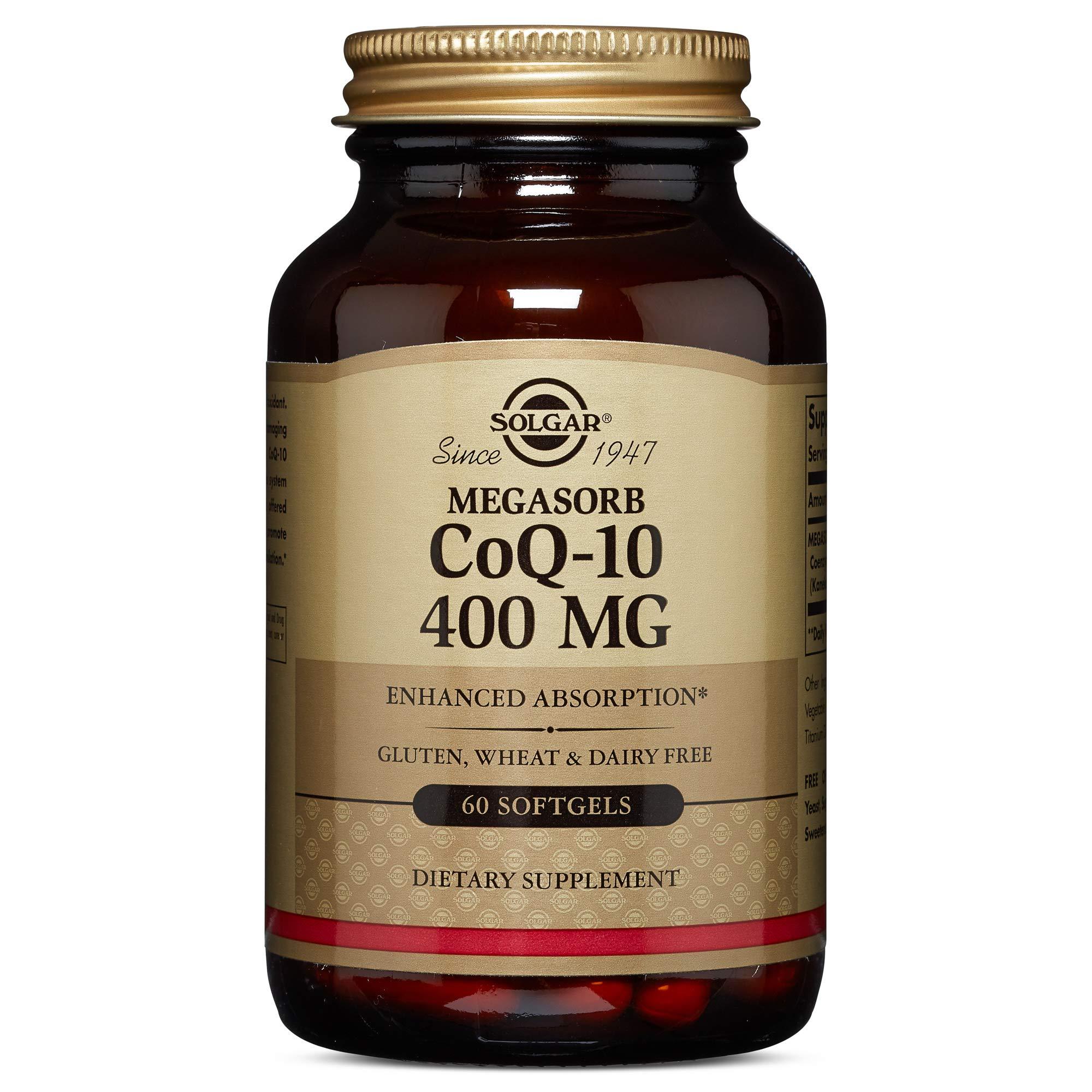 Solgar - Megasorb CoQ-10, 400 mg, 60 Softgels