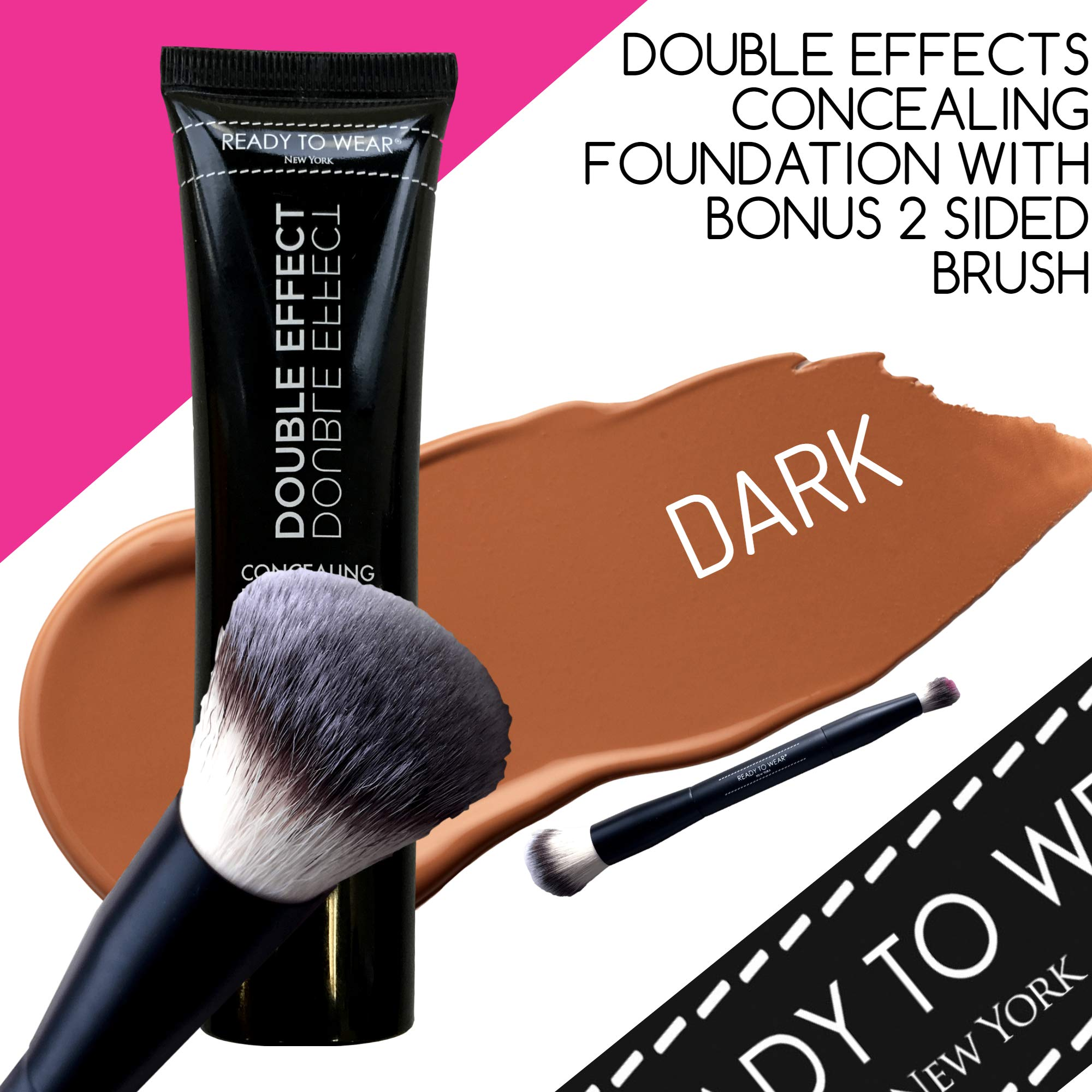 Ready To Wear DOUBLE EFFECT Concealing Foundation Made In Italy (DARK)