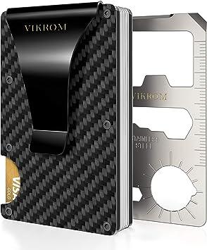 Amazon.com: Cartera de fibra de carbono con bloqueo RFID ...