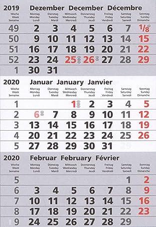 f/ür 2 Jahre passend f/ür 3-Monats-Tischkalender Edelstahl TypA magnetische Kalenderbl/öcke HiCuCo Kalendarien 2019+2020