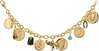 product image for American Coin Treasures Gold Layered Irish Coin Charm Coin Bracelet