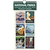 """National Parks Poster Art of the WPA Perpetual Calendar Birthday Anniversary Family Date Annual Reminders 5.5"""" x 11.5"""""""