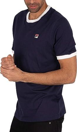 Fila de los Hombres Camiseta Marconi Essential Ringer, Azul