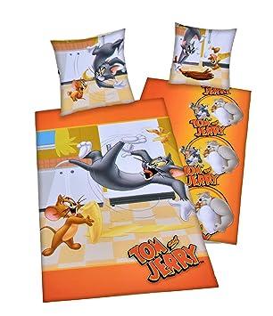 Herding Tom Jerry Bettwäsche Set Wendemotiv Bettbezug 135 X 200