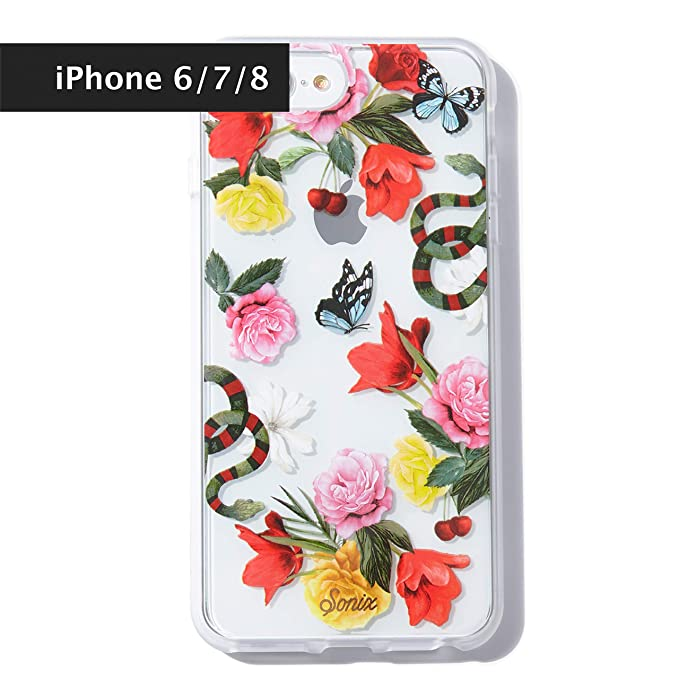 4b259e1da3d Sonix, Eden (Flowers and Snakes) Cell Phone Case [Military Drop Test  Certified] Womens Protective Clear Case for Apple iPhone 6, iPhone 7,  iPhone 8