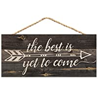 P. Graham Dunn The Best is Yet to Be Arrow Rustic 5 x 10 Wood Plank Design Hanging...