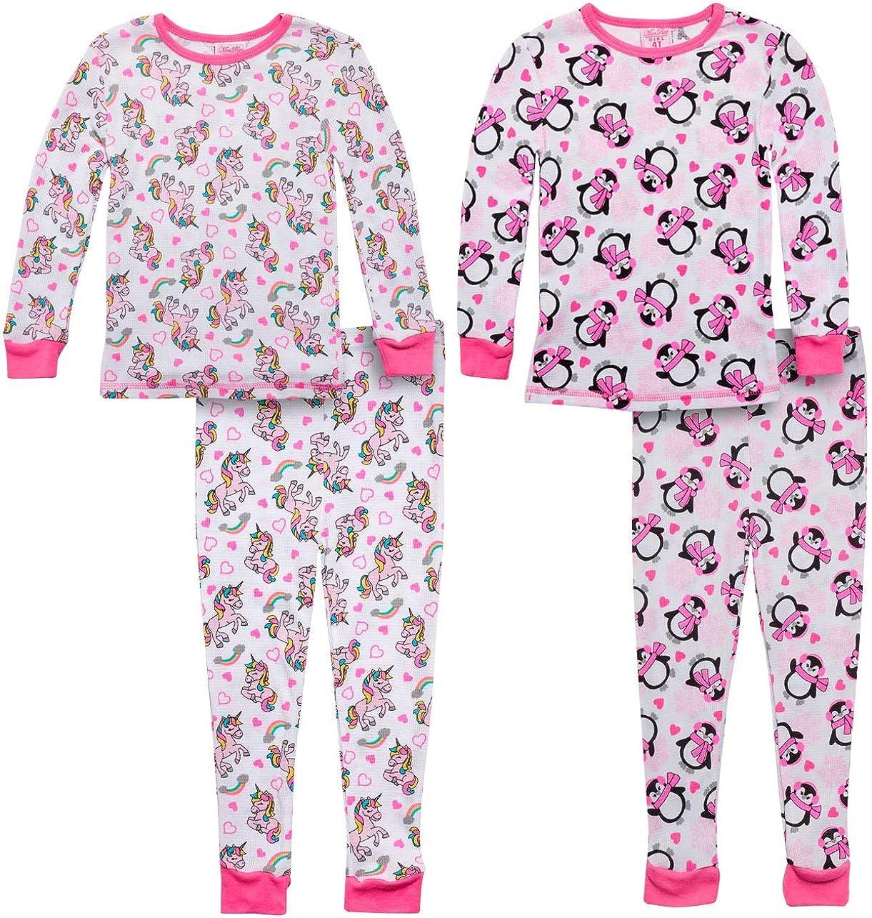 Mon Petit Baby Boys /& Girls Thermal Pajama Pant Sets with Fun Prints Infant /& Toddler 2-Pack