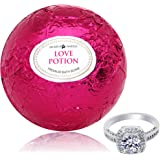 Bath Bomb with Ring Inside Love Potion Extra Large 10 oz. Made in USA