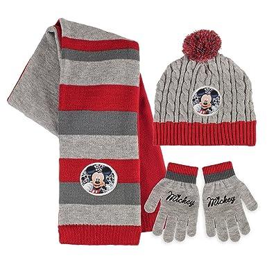 Disney Topolino - Set 3pz Inverno Cappello Sciarpa e Guanti - Bambino   Amazon.it  Abbigliamento 12f8083f3045