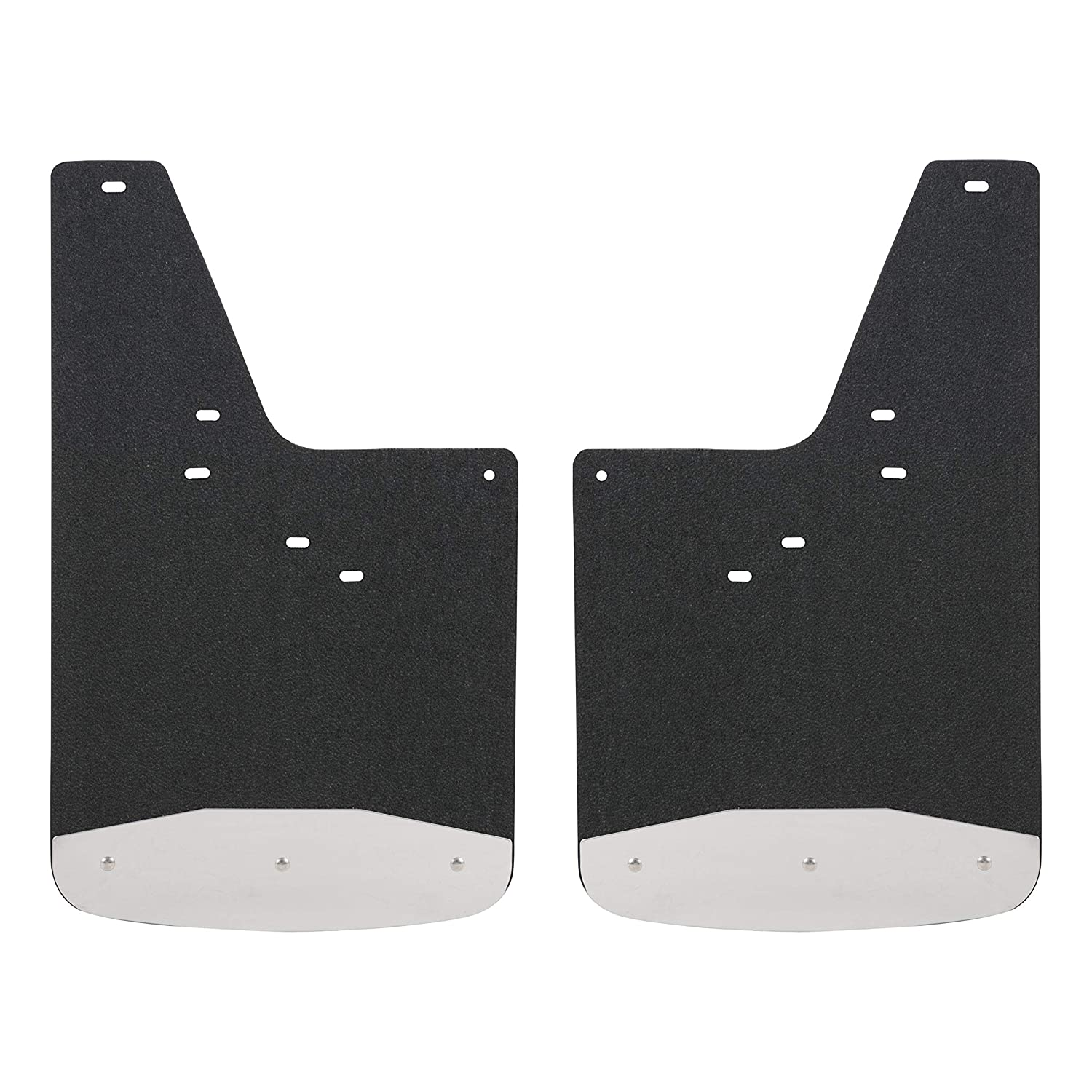LUVERNE 251440 Front or Rear 12 x 20-Inch Textured Rubber Mud Guards Black 12 x 20 for Select Chevrolet Silverado 2500 GMC Sierra 1500 3500 HD