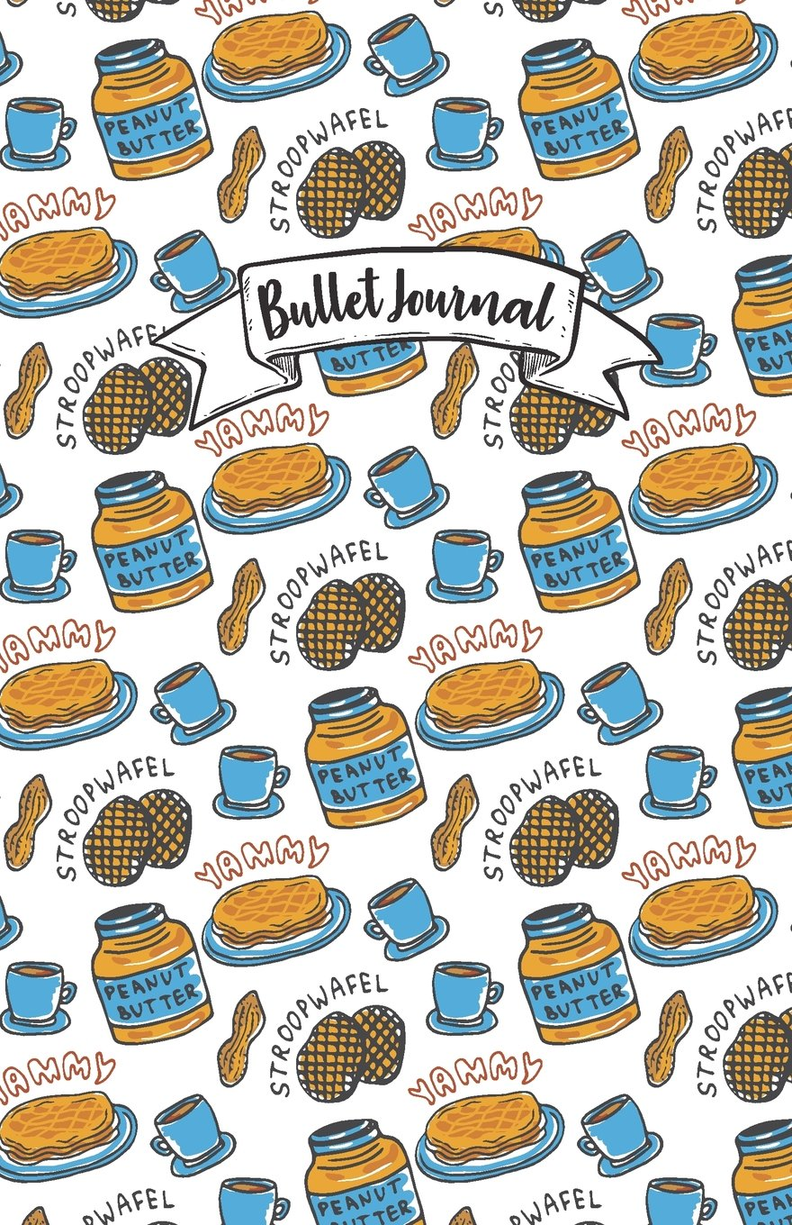 """Bullet Journal: Yellow cute peanut butter doodle color pattern : Notebook, Bullet Journal Dotted Grid, 100 pages (5.5"""" x 8.5"""") PDF"""