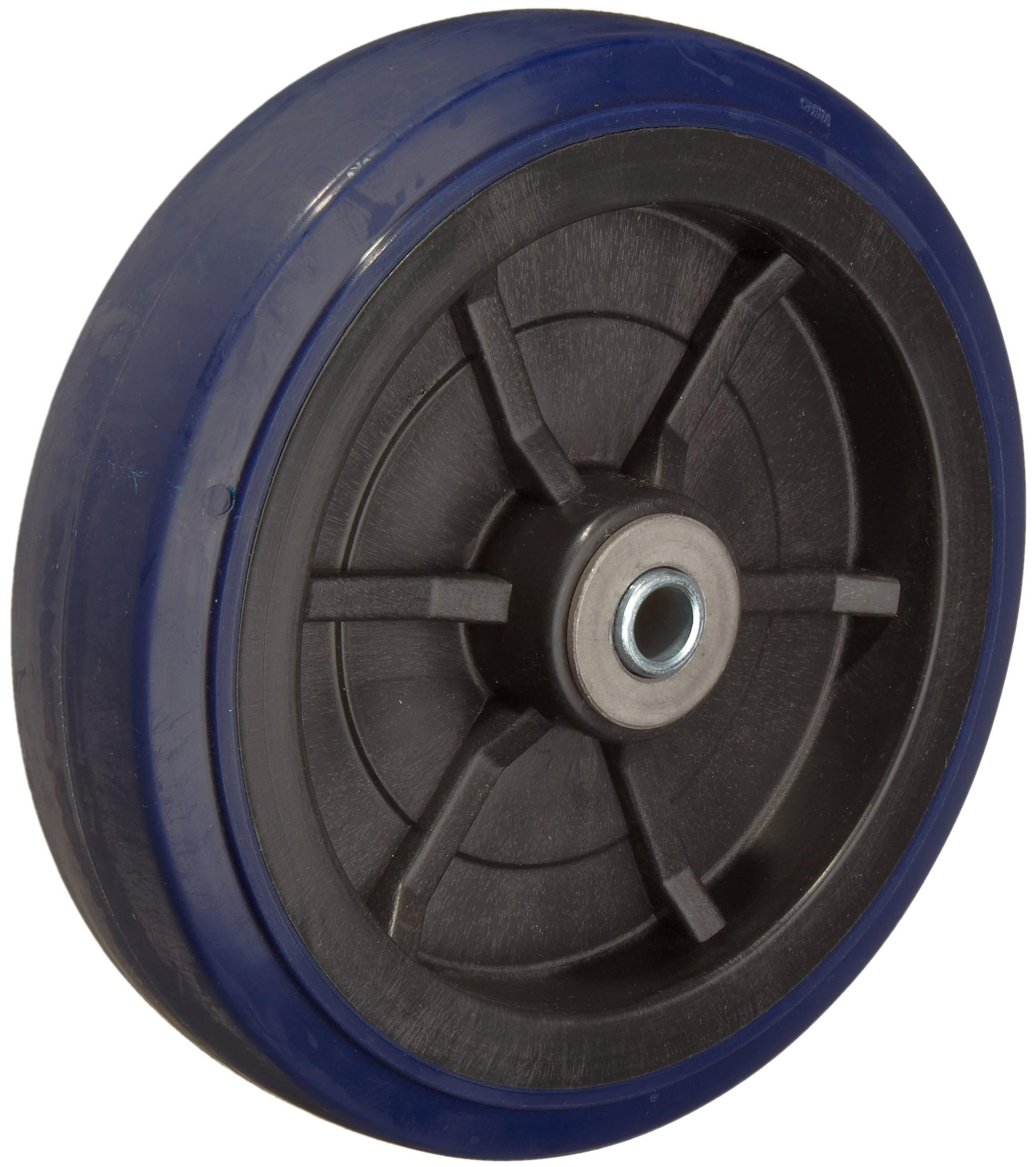 RWM Casters UPR-0820-08 8'' Diameter X 2'' Width Urethane On Polypropylene Wheels With Straight Roller Bearing, 1000 lbs Capacity