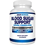 Blood Sugar Support Supplement - 20 Herbs & Multivitamin for Blood Sugar Control with Alpha Lipoic Acid & Cinnamon - 120…