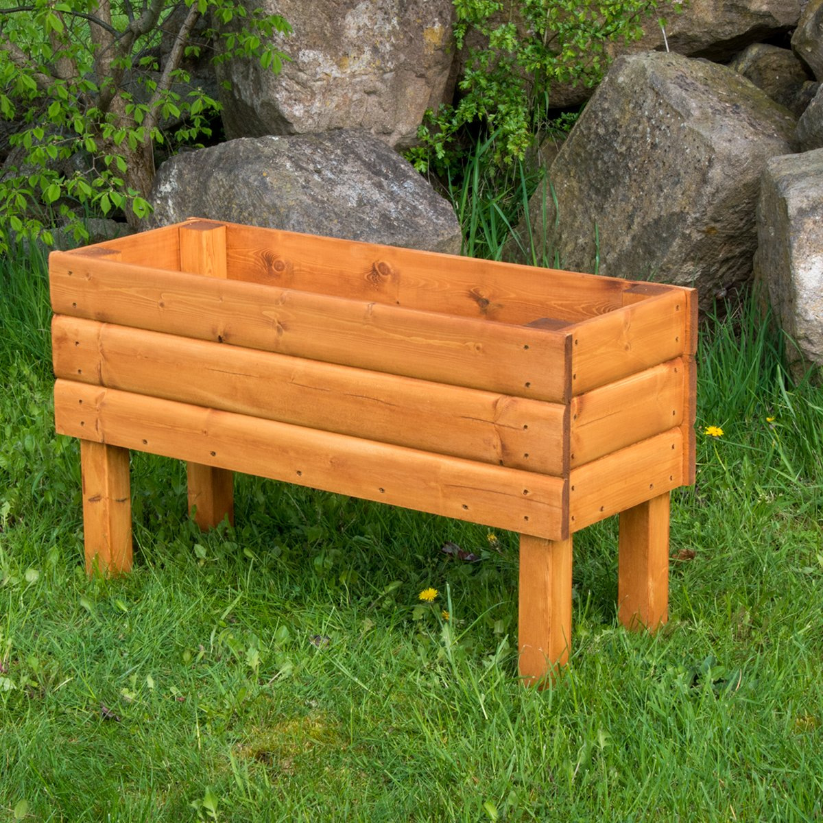 Riverside Woodcraft Heavy Duty Trough Planter Extra Large With Anti Bacteria Coating