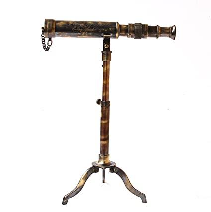 Amazon Nautical Table Decorative Sailor Full Brass Telescope W Enchanting Decorative Telescopes
