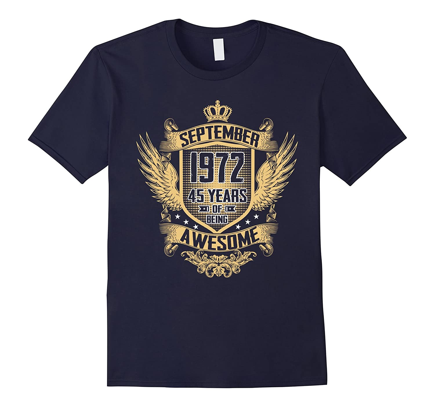September 1972 Shirt 45 Years of Being Awesome T-shirt-PL