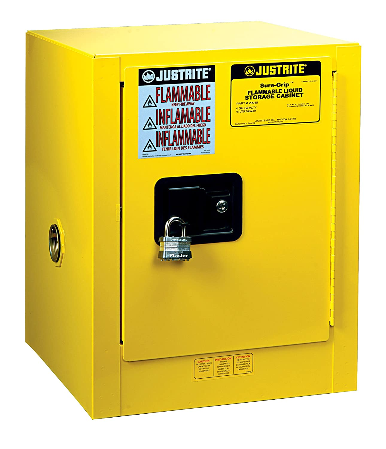 Fire Safe Cabinets Justrite Sure Grip Ex Safety Cabinet For Flammable Liquids 1