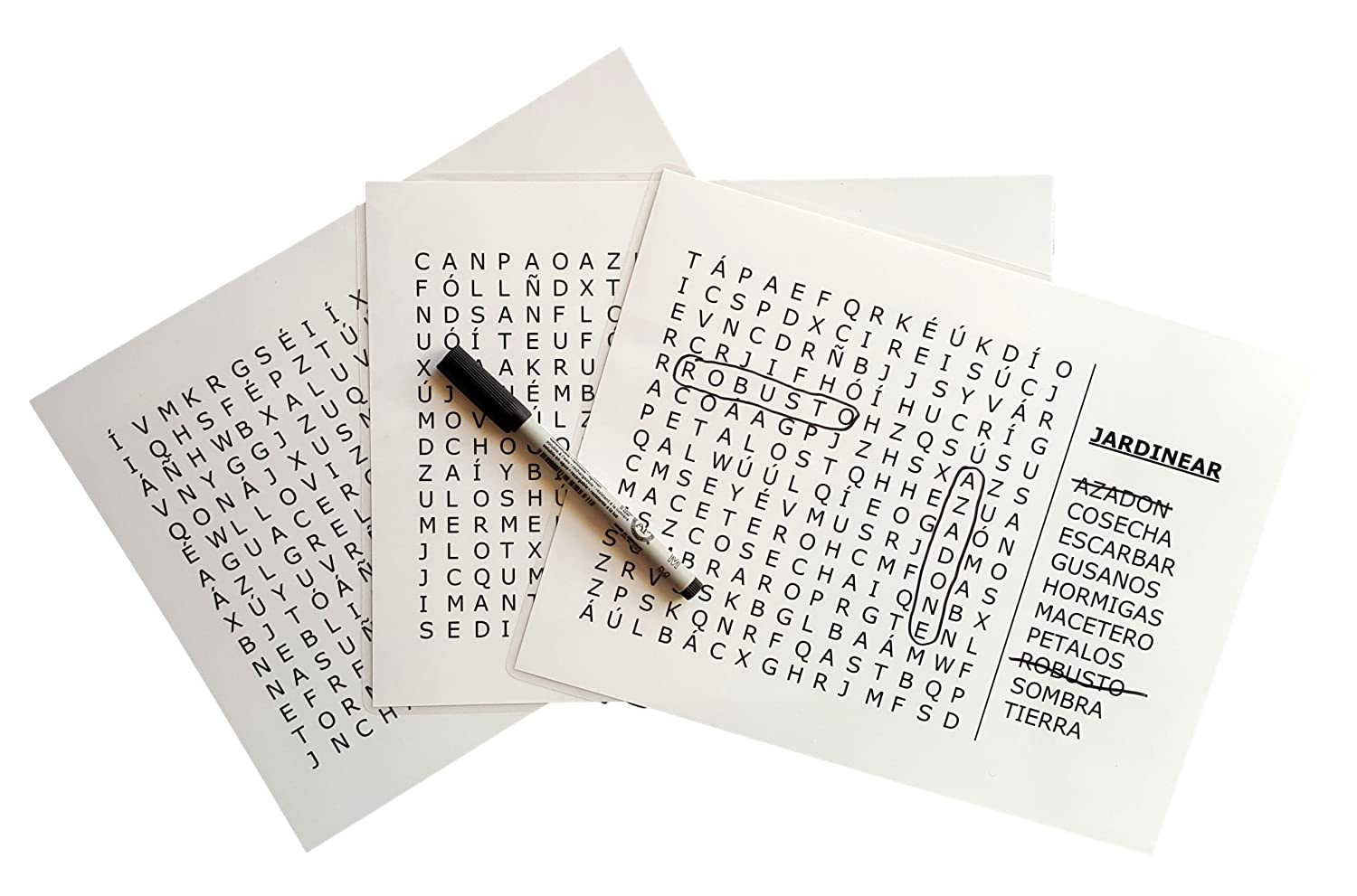 Keeping Busy Nivel 3 Difícil Spanish Word Search Dementia and Alzheimer's Grab Go Engaging Activity for Older Adults