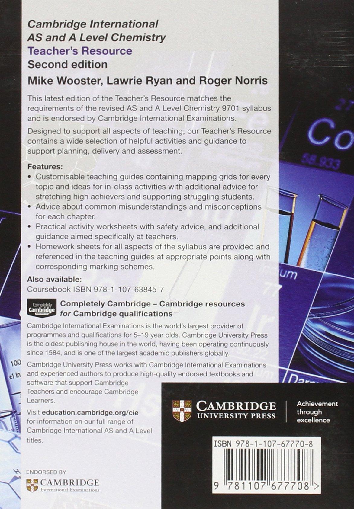 Buy Cambridge International As And A Level Chemistry Teachers