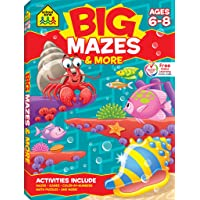 School Zone - Big Mazes & More Workbook - Ages 6 to 8, 1st Grade, 2nd Grade, Learning...