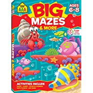 School Zone - Big Mazes and More Workbook, ages 6 to 8, learning activities, games, puzzles, problem-solving