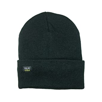 949fc1957e92e Mens Insulated Thermal Fleece Lined Comfort Daily Soft Beanies Winter Hats  (Black Beanie) at Amazon Men s Clothing store