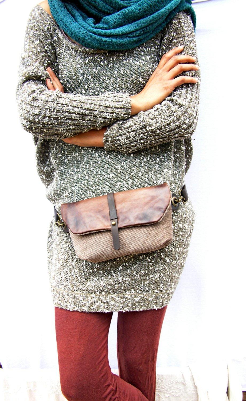 Hip Bag - Fanny Pack - Traveler Bag - Utility Hip Belt - Hip Pouch by Ruth Kraus