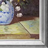 "overstockArt Grande Vase Di Fiori by Pierre-Auguste Renoir Hand Painted Oil on Canvas with Brasovia Frame, 26.5"" x"