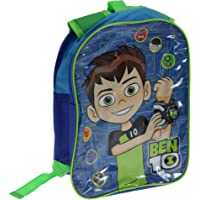 Ben 10 Boys 2 Compartment Backpack With Reversible Straps (UK Size: One Size) (Blue/Green)