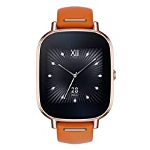 ASUS ZenWatch 2 Silver with Beige Leather Strap 37mm Smart Watch with Quick Charge Battery
