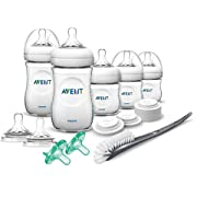 Philips Avent Natural Bpa Free Baby Bottle Newborn Starter Gift Set, Scd296/03, White
